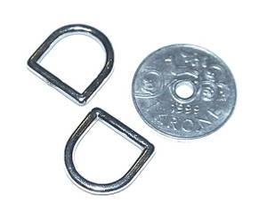 Bilde av D ring - forniklet stål